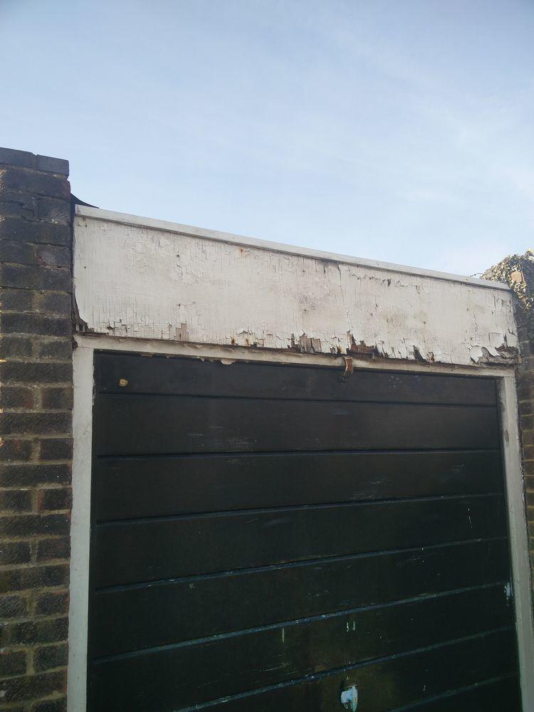 UPVcPVC cladding needed above above garage door  Fascias