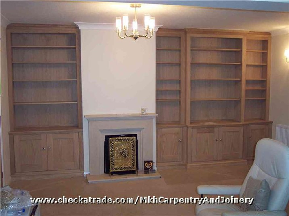 how to build a kitchen cabinet stainless steel shelf /shelves built either side of chimney breast ...