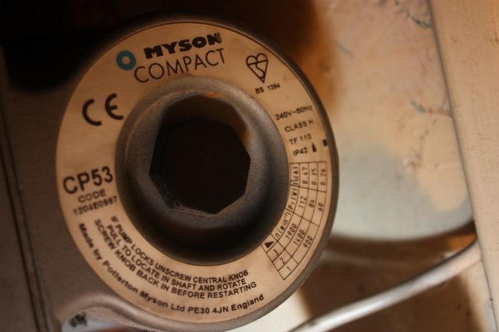Failed Myson Compact Circulating Pump CP53  Central