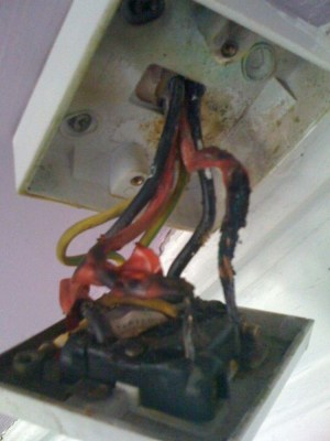 Shower Switch Replacement (Cord Pull)  Burnt wires  Electrical job in Glasgow, Lanarkshire