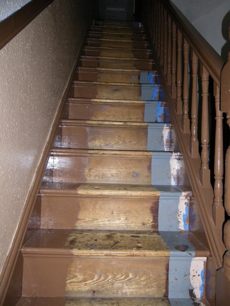 decorating kitchen knife sets cut & fit felt backed carpet to stairs, hall landing ...