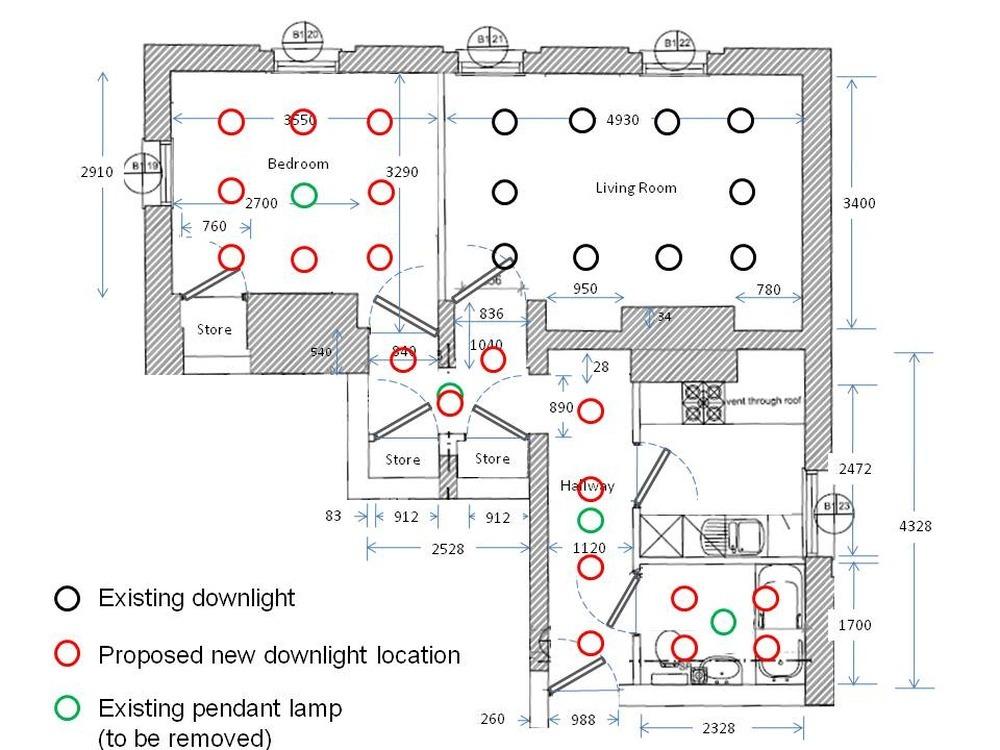 wiring diagram kitchen downlights