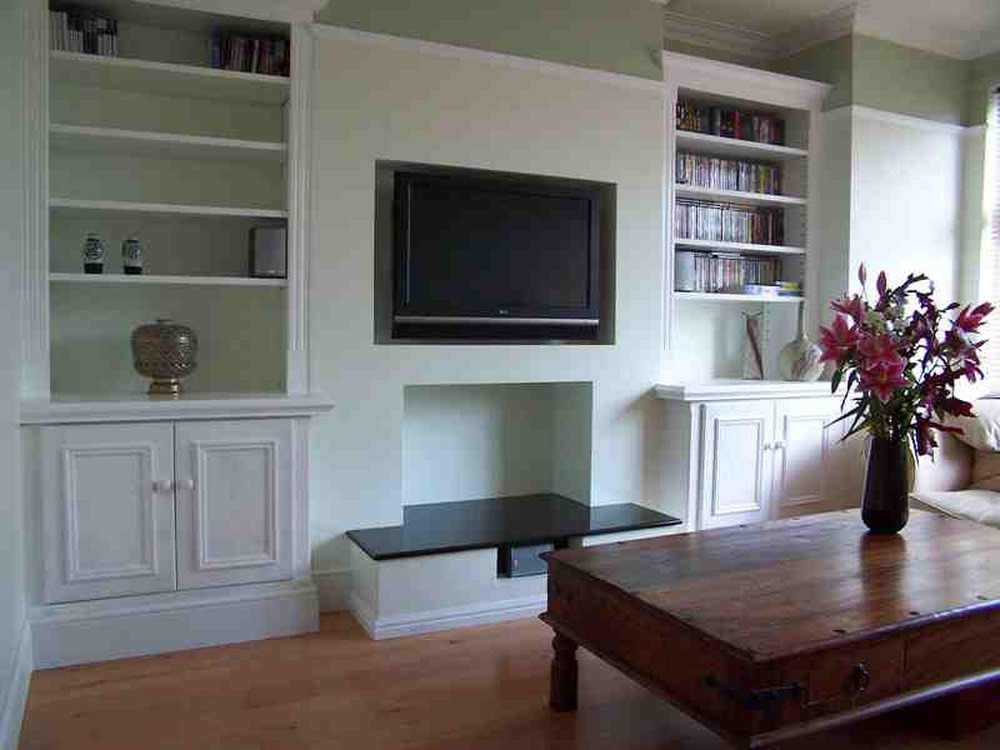 How To Build In A Gas Fireplace Alcove Shelves And Cupboard - Carpentry & Joinery Job In