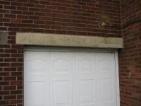 Replace garage door lintel