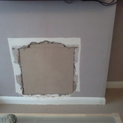 Kitchen Builder Ikea Doors Plaster Hole In Chimney Breast, Access + Old Vent ...