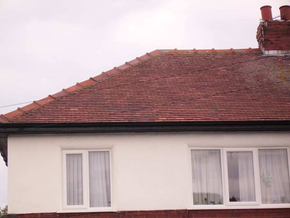 Replace 50 roof tiles replace flashing  Roofing Pitched job in Lytham St Annes Lancashire