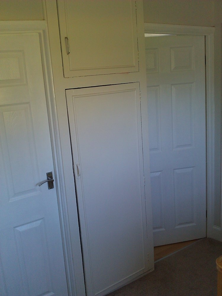 Conversion of airing cupboard  Carpentry  Joinery job in