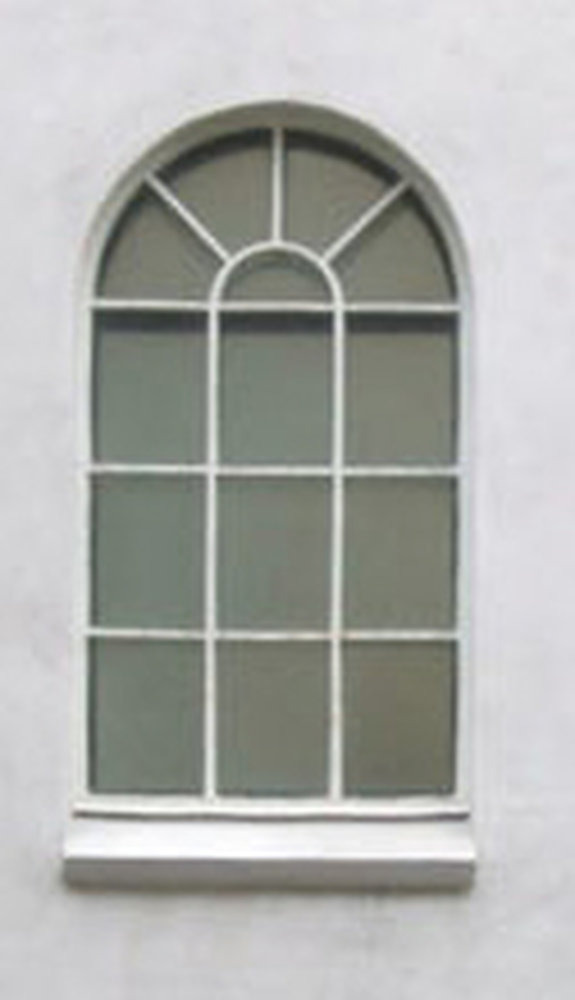 Fit a tall arched window on front of house  Windows job in Gerrards Cross Buckinghamshire