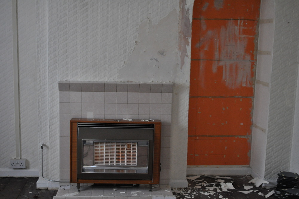 Removal of old gas fire in living room  Gas Work job in