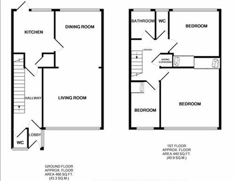 gas central heating system for 3 bedroom terraced house