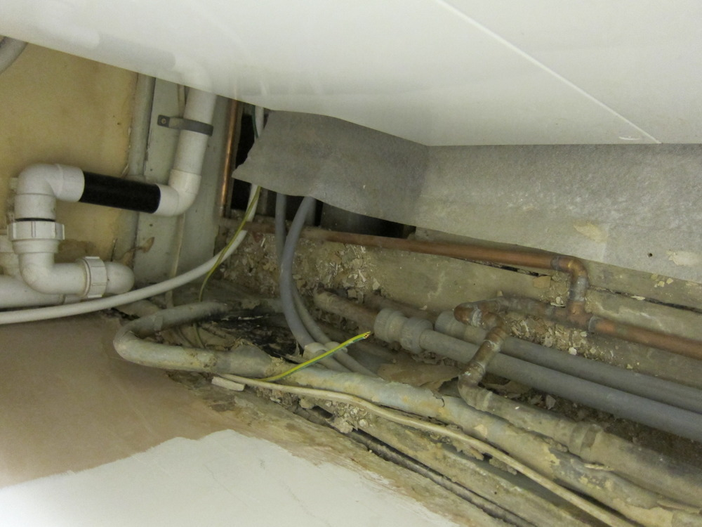 Moving and hiding boiler pipes  Gas Work job in