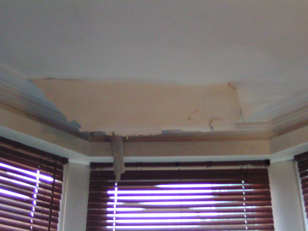 Bay window roof leak repair and internal replaster  Roofing job in Salford Lancashire  MyBuilder