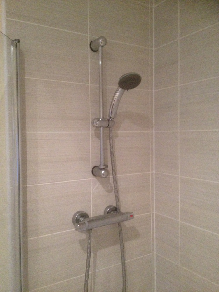 Fit thermostatic shower to existing bath  tiling  Bathroom Fitting job in Loughborough