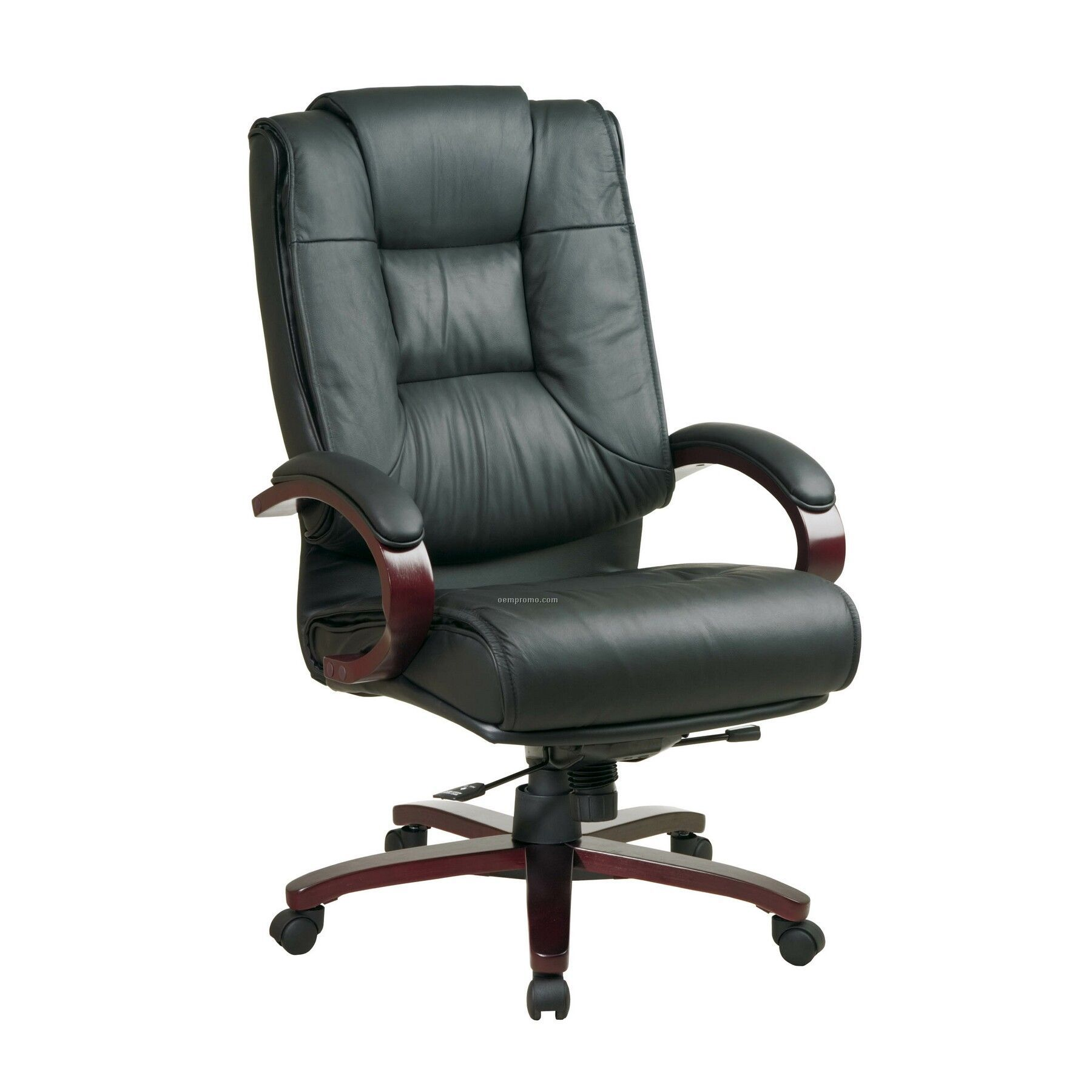 black leather office chair high back swivel round pro line ii china