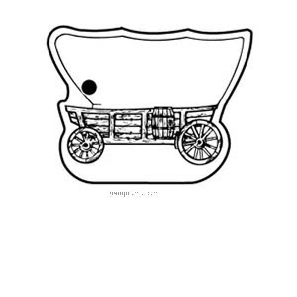 Stock Shape Collection Covered Wagon Side View Key Tag