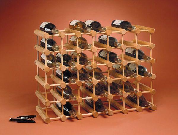 Wine Bottle Storage Rack - Lacquered Oak China