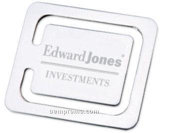 Polished Silver Square Bookmark,China Wholesale Polished