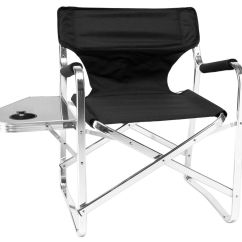 Directors Chair With Side Table Covers Hong Kong Imported Dining Height Aluminum Director
