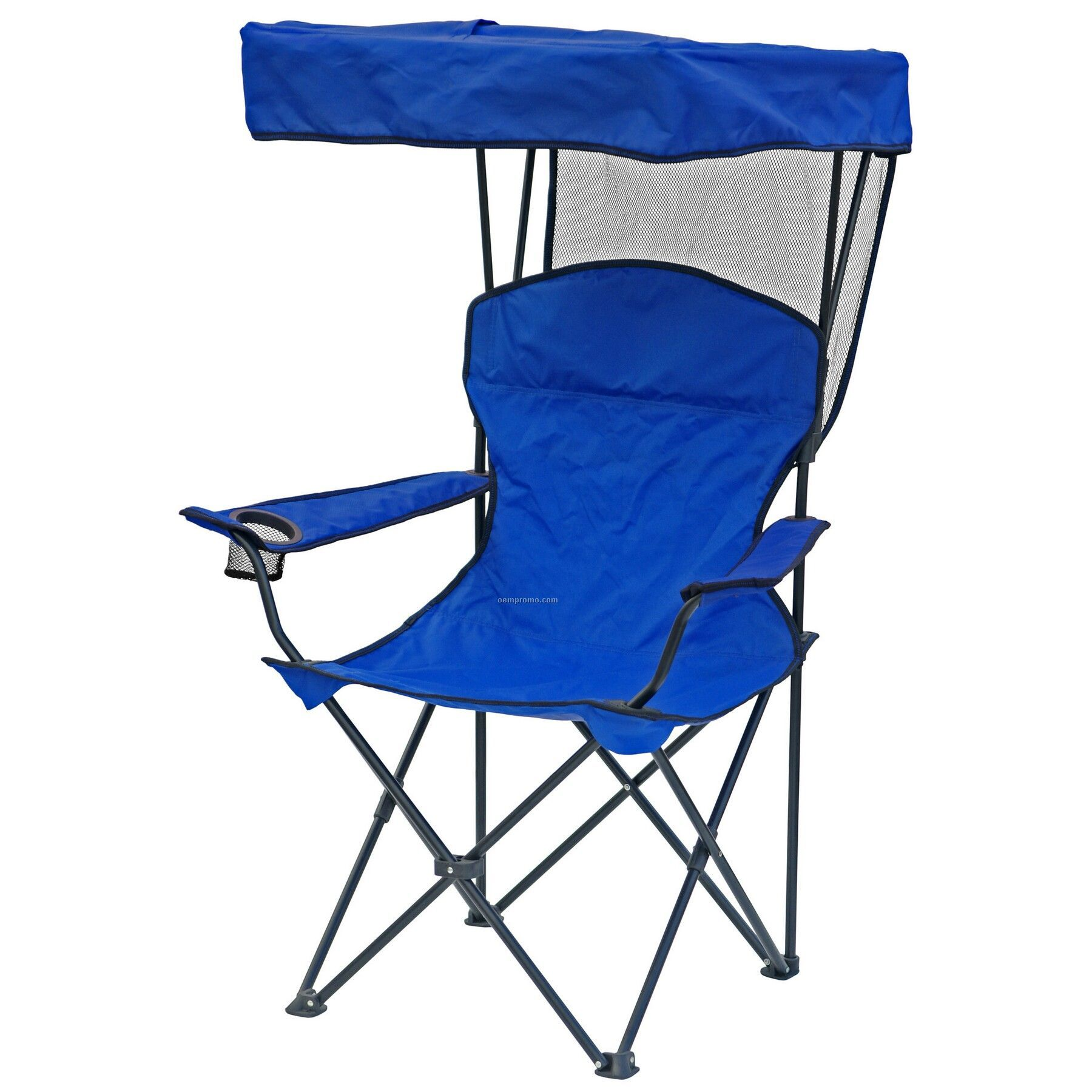 Chair With Umbrella Direct Import Folding Chair W Canopy Arm Rests And Carry Bag