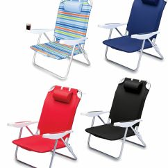 Reclining Beach Chairs Grey Upholstered Dining Uk Monaco Chair W 6 Positions And Backpack