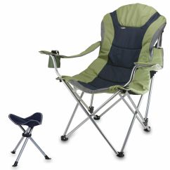 Reclining Camping Chair With Footrest Metal Stool Cushion Twill Fuf Baseball Screen Printed China Wholesale