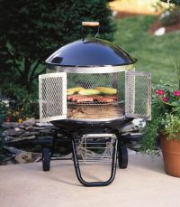 """Fire Sense 28"""" Patio Hearth Pro Outdoor Fireplace/Grill ..."""