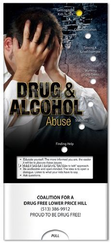 Drug & Alcohol Abuse Pocket Slider Chart Brochure China