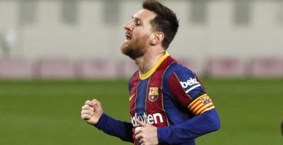 Leo Messi celebrates (Reuters)