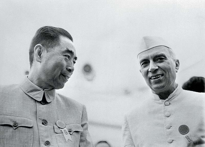 Nehru and Zhou Enlai /Chou en lai (Picture courtesy - Outlook)