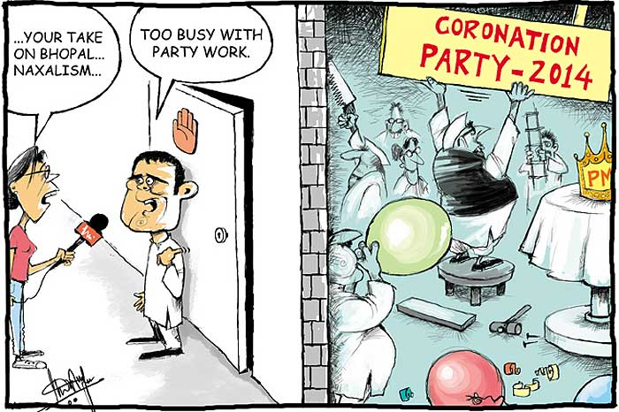 Remember! Congress has won just 3 elections in the last 40 years. (Cartoon By Sandeep Adhwaryu; courtesy - outlook.com; publication date - Jun 28, 2010.). Click for larger image.