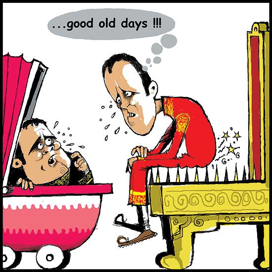 It wasn't easy then ... (Published on - Jul 14, 2010; cartoon by - Sandeep Adhwaryu; cartoon courtesy - outlook.com.). Click for larger image.