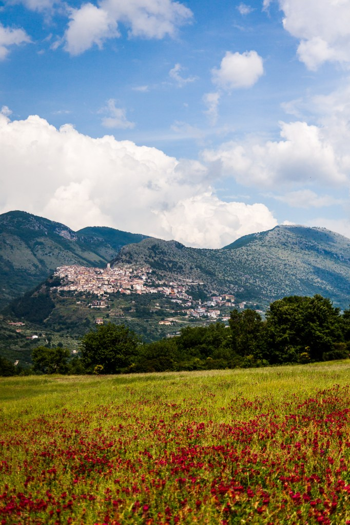 Depuis Ristorante Santo Spirito - Vue sur Castelcivita