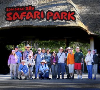 Our group at the Safari Park in February 2018.