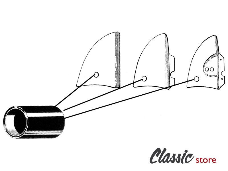 Spacers for frame cover all models 1954-1979 : VW