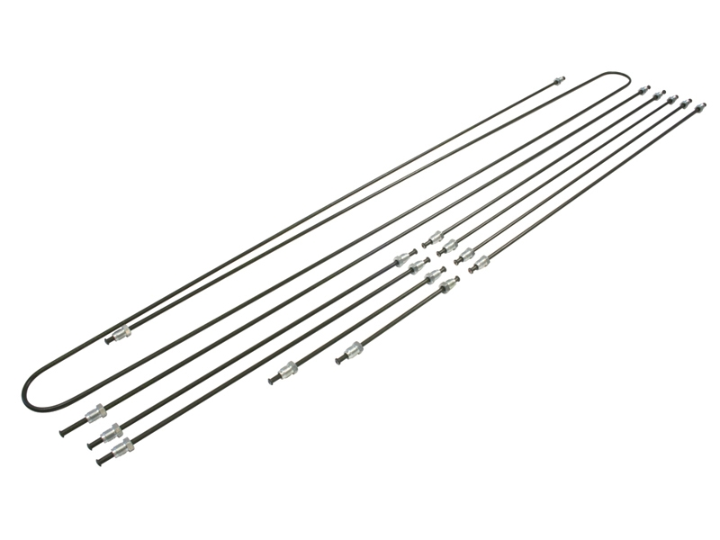 Kit tuyaux rigides de frein pour Cox Combi Karmann et