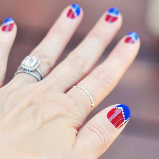 Team Usa Red White Blue Nails