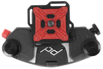 ARCAplate - This is our standard PROplate™. Fits most ARCA tripod heads, slides into Capture in 4 directions, 4 loops for Micro Anchors™ or hand straps.