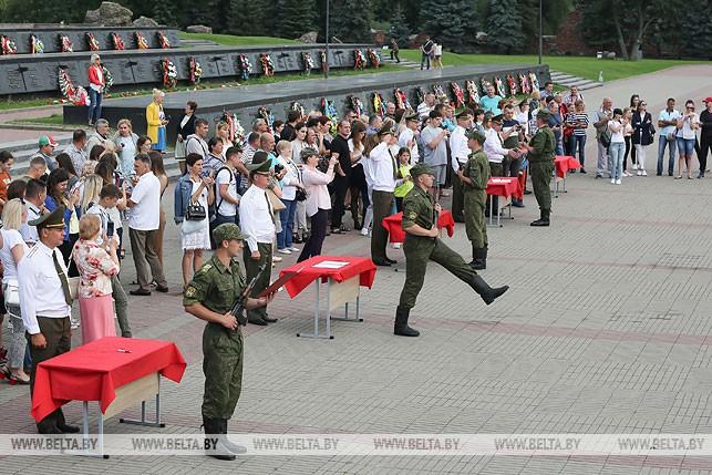 Студенты военной кафедры Гомельского государственного медицинского университета приняли присягу в Брестской крепости
