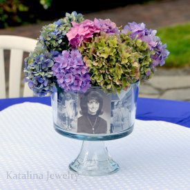 Photo & Floral Centerpiece