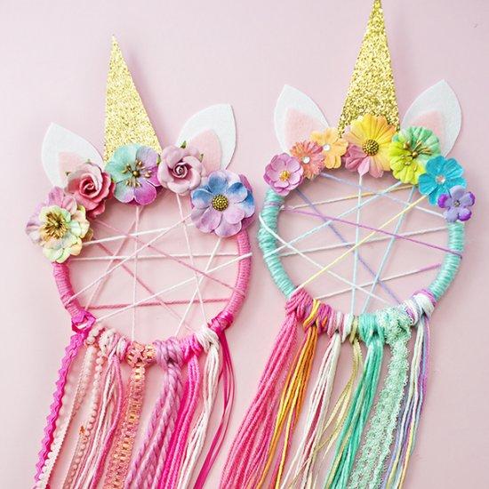 diy unicorn dreamcatcher craftgawker