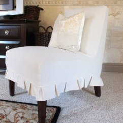 Slipcover For Armless Chair Replacement Swivel Base Recliner How To An Dwellinggawker
