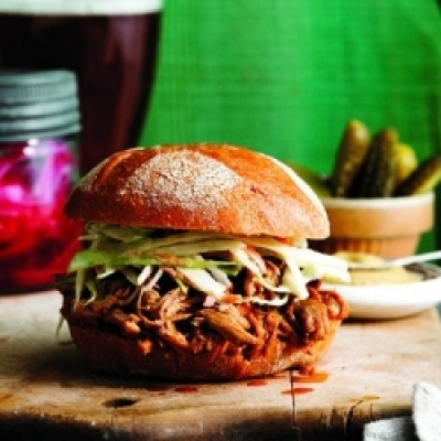 saucy slow-cooker pulled pork click photo for more information
