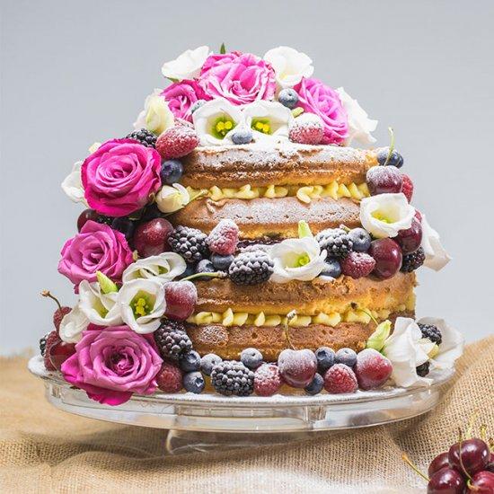 3 Tier Wedding Cakes Victoria Sponge Cake