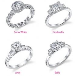 disney princess wedding rings