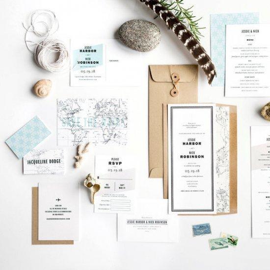 Travel Theme Wedding Invitations Weddinggawker