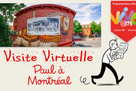 Paul montreal montréal michel rabagliati visite virtuelle panoramic photography virtual reality tour
