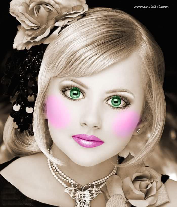 عکس دختر چشم سبز