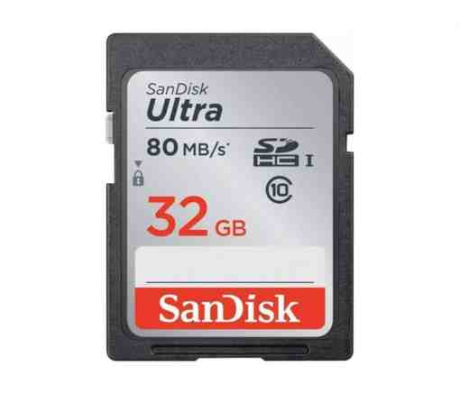 Sandisk Ultra SDHC 32GB 80MB 1 - Sandisk Ultra SDHC 32GB 80MB/S Class 10 Flash Memory Card