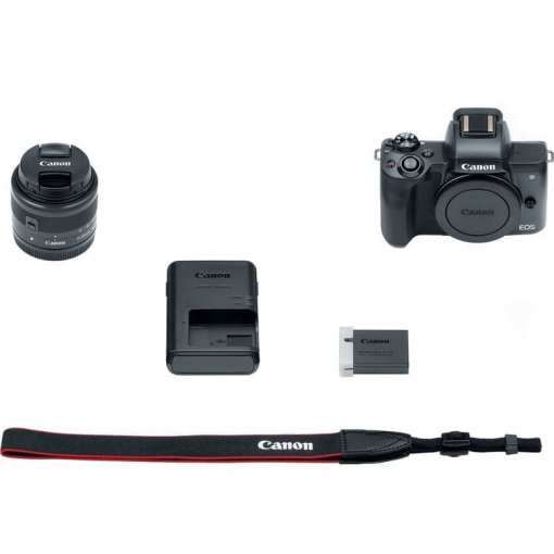 266474a2 e76c 49ea 88af 455993c9a847 - Canon EOS M50 Mirrorless Camera Kit w/ EF-M15-45mm Lens and 4K Video (Black)