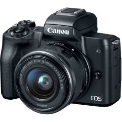 Canon EOS M50 Mirrorless Digital Camera with 15 45mm Lens Black - Canon EOS M50 Mirrorless Camera Kit w/ EF-M15-45mm Lens and 4K Video (Black)